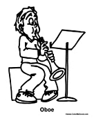 Boy Playing the OboeOboe Coloring Pages