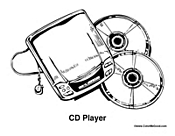 CD Player with Discs