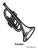coloring pages of trumpets - photo#15