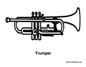 coloring pages of trumpets - photo#10
