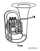 Tuba coloring pages ~ Tuba Coloring Pages