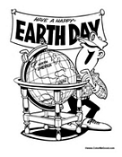 Earth Day Poster to Color