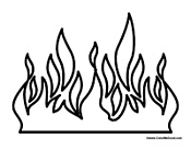 Fire Coloring Pages Coloring Pages Of Flames