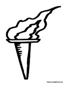 fire coloring pages