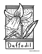 daffodil01 Science Coloring Pages