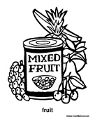 Mixed Fruit Can and Fruits