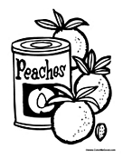 Can of Peaches with Peach