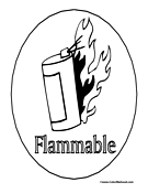 Flammable Sign Coloring Page