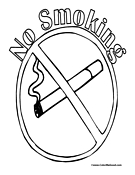 No Smoking Sign Coloring Page
