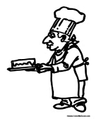 Chef Baking a Cake