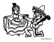 mexican culture coloring pages - children coloring pages