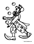 clown mouth coloring pages - photo#17