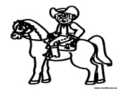 Bull Riding Coloring | Bucking Bull Coloring Page | Sitting Bull