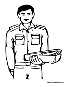 Male Nurse Coloring Page for Kids