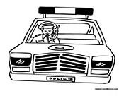 Police Officer in Patrol Car