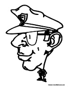 Cartoon Police Officer Cop