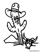 Cactus with Cowboy Hat