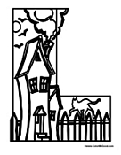 halloween letter coloring pages - photo#16
