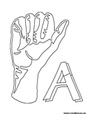 Sign Language - Letter A