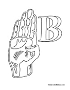 Sign Language - Letter B