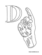 Sign Language - Letter D