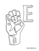 Sign Language - Letter E