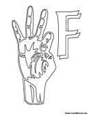 Sign Language - Letter F