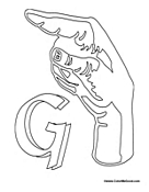 Sign Language - Letter G