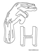 Sign Language - Letter H