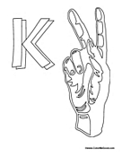 Sign Language - Letter K