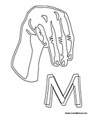 Sign Language - Letter M