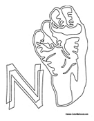 Sign Language - Letter N