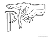 Sign Language - Letter P