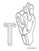 Sign Language - Letter T