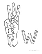 Sign Language - Letter W
