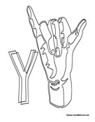 Sign Language - Letter Y