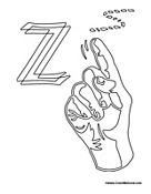 Sign Language - Letter Z