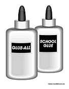 Two Bottles of School Glue