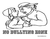 bully free zone coloring pages - photo#12
