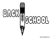 First Day of School with Pencil