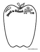 Back to School ABC's Apple