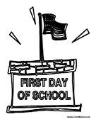First Day of School Flag Pole