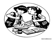 Two Girls Cooking Together