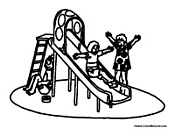 Huge Playground Slide