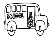 School Bus with Kid