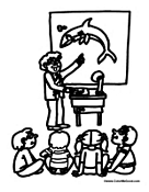 Teacher Teaching And Student Coloring Pages