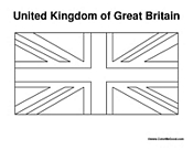 united kingdom flag coloring page - flag coloring pages
