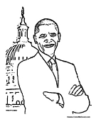 obama coloring pages 100 images u s president barack obama