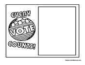 coloring pages vote - photo#23