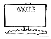 Voting Street Sign - Blank